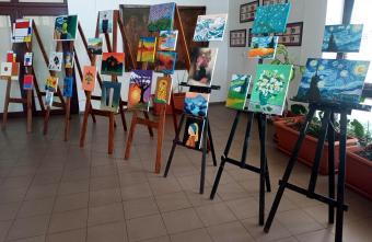 Изложба на ученически репродукции